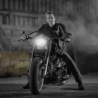 Mann auf Harley / Marlboro-Man Hamburg