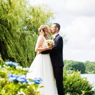 Hochzeitsfotoshooting am See