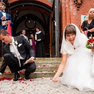 Hochzeitsspiele nach der Trauung