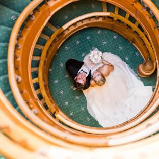 Brautpaar / Hochzeitsfoto im Waldhaus Reinbek