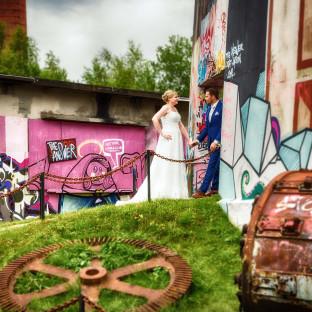Hochzeitsshooting auf dem Alsengelände