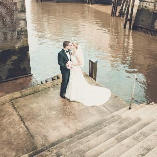 Hochzeitsfoto in der Speicherstadt Hamburg