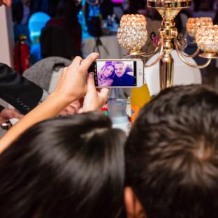 Selfie von Hochzeitsgästen