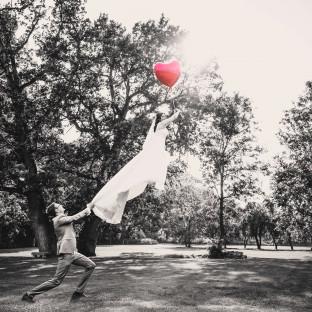 Levitationsshooting Luftballons Hochzeit
