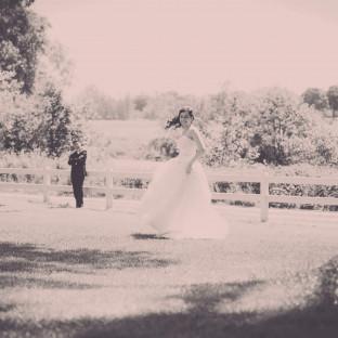 Traumhaftes Foto von Brautpaar