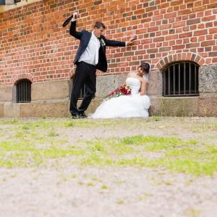 Lustiges Hochzeitsfoto Hamburg
