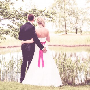Witziges Hochzeitsfoto