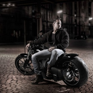 Foto: Biker mit Harley