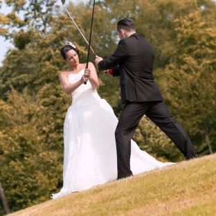 Ehepaar am kämpfen