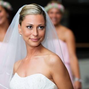 Eine schöne Braut in Hamburg