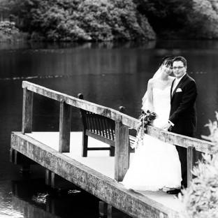 Hochzeitsfoto am Reinbeker Schloß