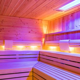 Foto von Saunainnenraum