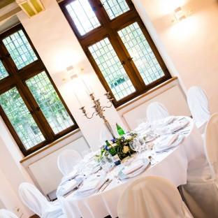 Hochzeitsdeko im Schloss Reinbek