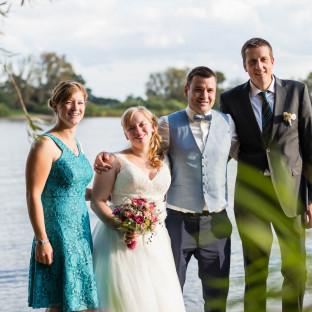 Hochzeitsfoto am See