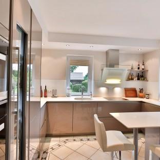 Perspektivisches Foto einer Küche