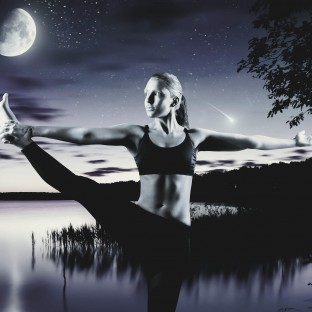 Yoga-Foto Hamburg, Sportlerin und Fitnesstrainerin