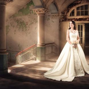 Mystisches und fantasievolles Hochzeitsfoto/Brautfoto in Hamburg