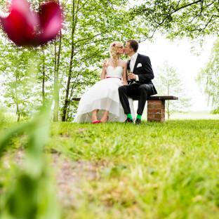Ehepaar mit Mohnblume