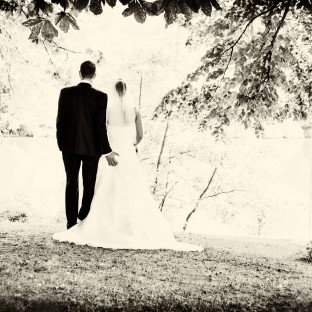 Lustiges Hochzeitsfoto