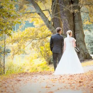 Brautpaar von hinten