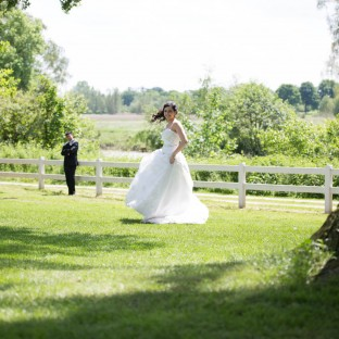 Braut beim Portraitshooting