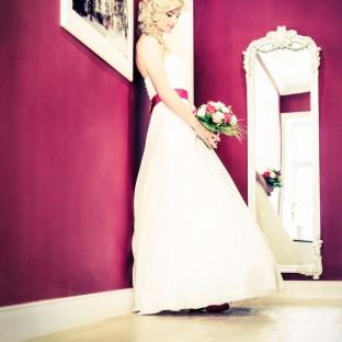 Hochzeitsfoto mit viel Pink!