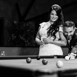 Billard Hochzeitsfoto