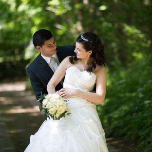 Hochzeitspaar nach Heirat