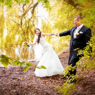 Hochzeitspaar mit Hochzeitsfotograf Chris Reiner