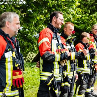 Feuerwehr bei Hochzeit