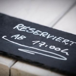 Reserviert-Schild