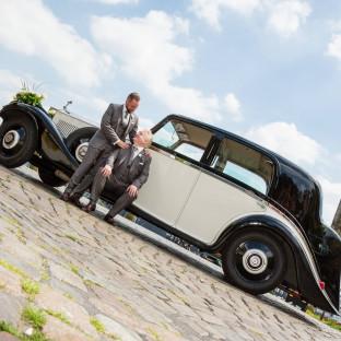 Oldtimer bei Hochzeit in Hamburg
