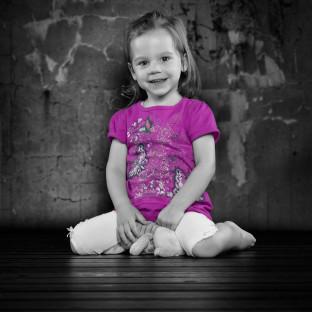 Kinderfoto Mädchen / Aufnahmeort: Fotostudio