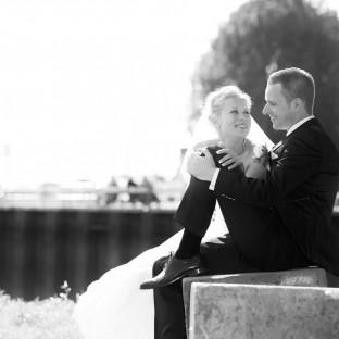 Hochzeitsfoto am Zollenspieker Fährhaus mit Chris Reiner
