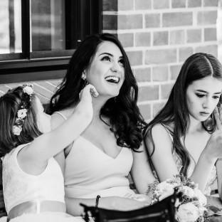 Familie auf Hochzeit