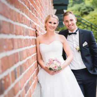Hochzeitsfoto am Schloss Reinbek