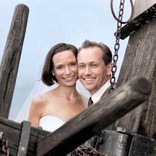 Hochzeitsfoto auf alter Mühle
