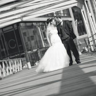 Hochzeitsfotoshooting am Sandtorkai Hamburg