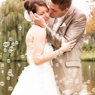 Brautpaar auf der Hochzeitsinsel Uetersen - Foto von Chris Reiner
