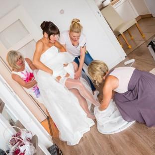 Getting Ready mit Braut