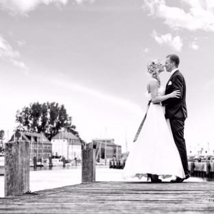 Schwarz-Weiss Hochzeitsfoto