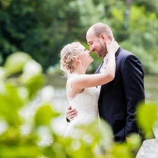Brautpaar Kussfoto, Hochzeitsfotograf Hamburg