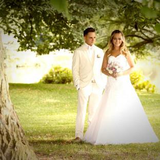 Hübsches Brautpaar
