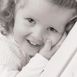 Kinderfoto Schwarz/Weiß