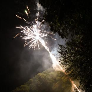 Feuerwerk bei Hochzeit